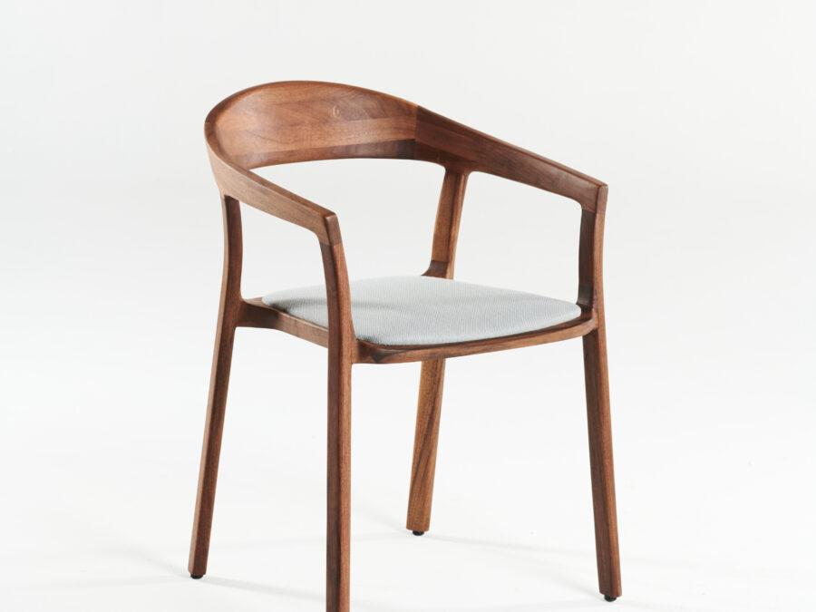 Tara chair, walnut, A03, in fabric 1